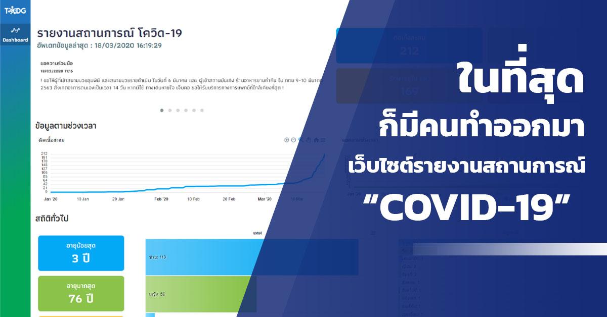 เว็บไซต์รายงานสถานการณ์ Covid-19